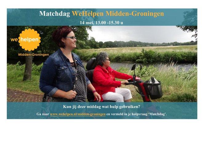 14 mei Matchdag WeHelpen Midden-Groningen
