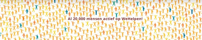 WOW! 20.000 hulpvragers en hulpbieders via www.wehelpen.nl