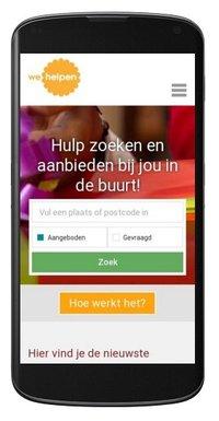 Layout wehelpen.nl op mobiel vernieuwd