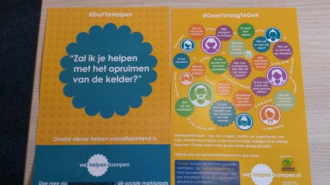 Nieuwe flyers van WeHelpen Kampen!