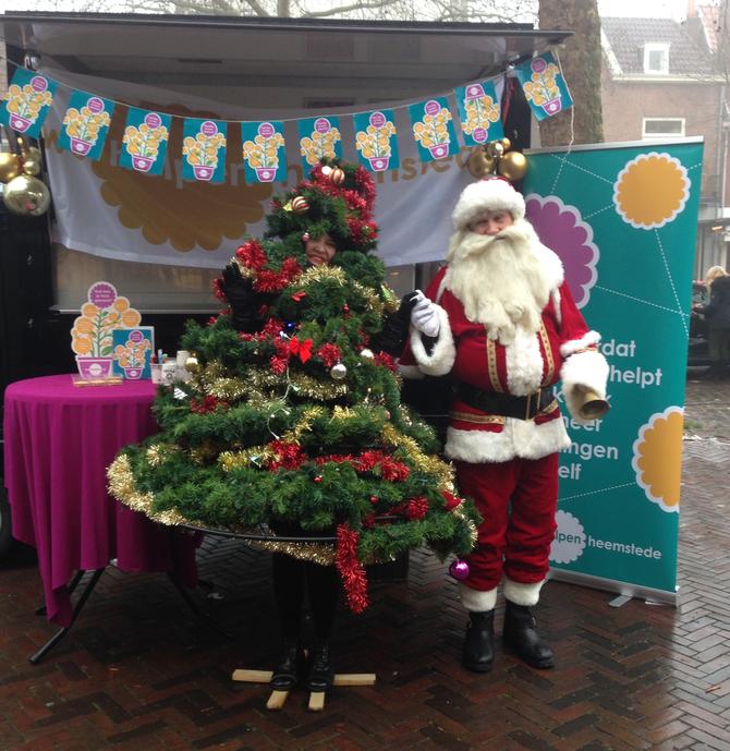 Op de Heemsteedse kerstmarkt