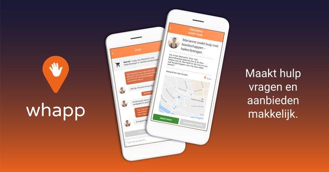 Whapp, de app van wehelpen, heeft iets nieuws